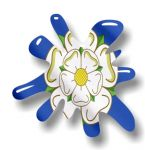 New SPLAT Design With Yorkshire Rose County Flag Motif External Vinyl Car Sticker 110x110mm